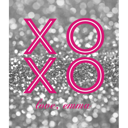 Glitter XOXO Valentines for Kids