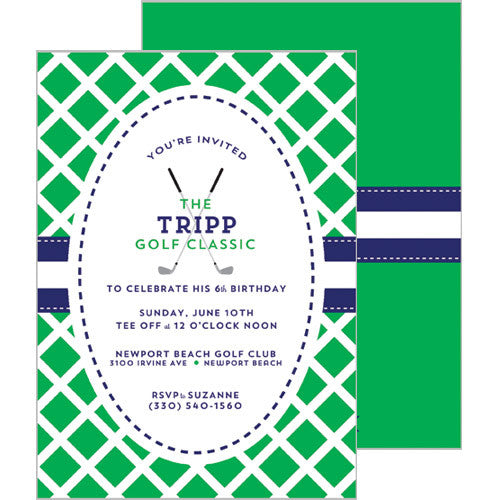 Golf Classic Double-Sided Party Invitation