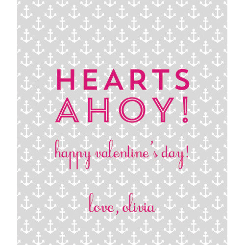 "Grey Anchor ""Hearts Ahoy!"" Kids Valentines"