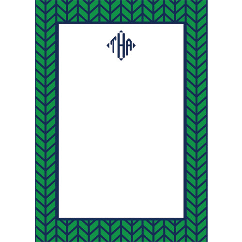 Herringbone Personalized Notepad