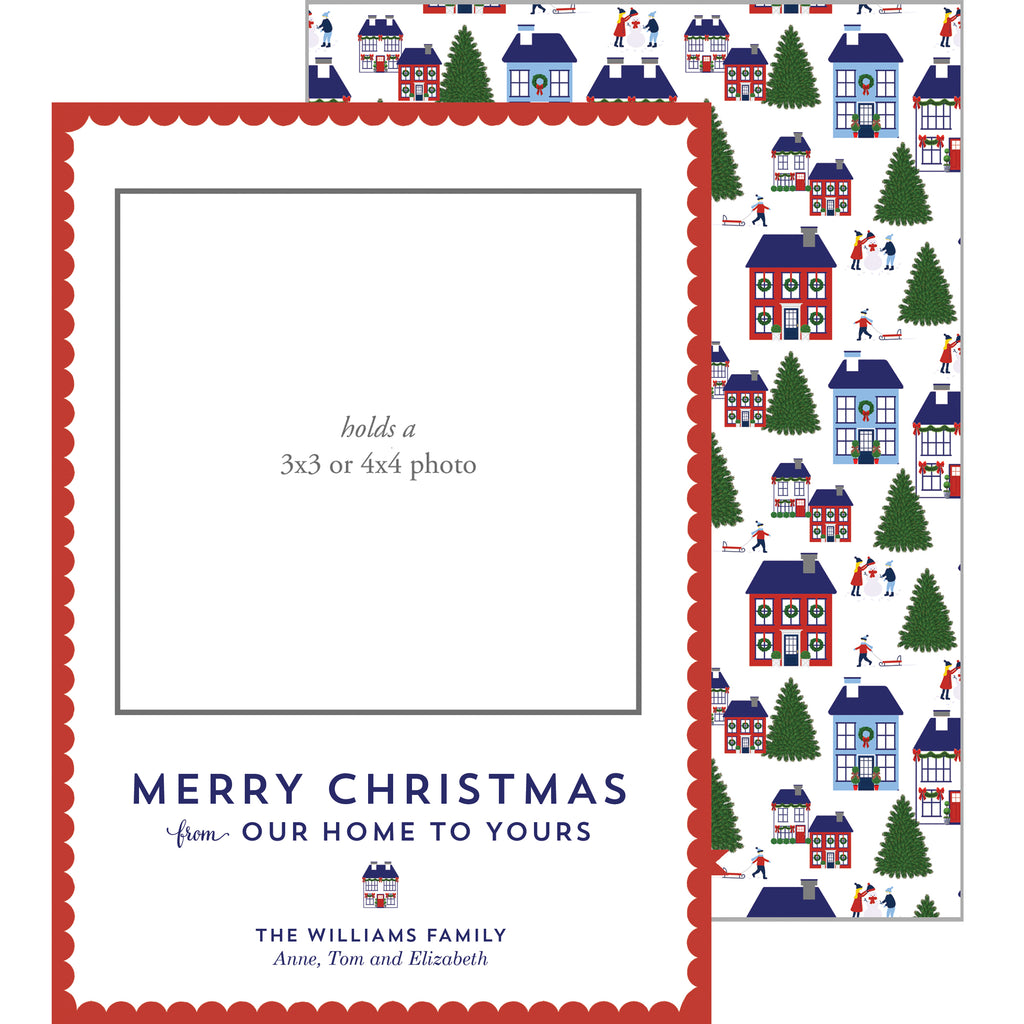 Photo Mount Holiday Photo Card | Holiday Village