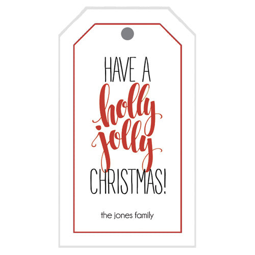 Holly Jolly Christmas Gift Tags