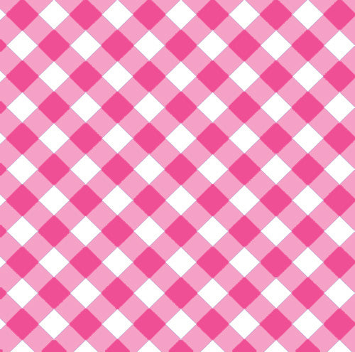 Gingham Check Gift Wrap Sheets | Pink