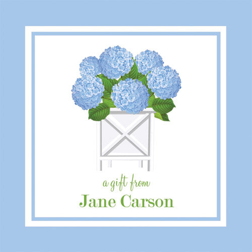 Blue Hydrangeas Gift Sticker | Set of 24