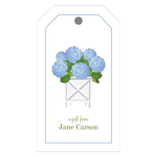 Blue Hydrangeas Personalized Gift Tags