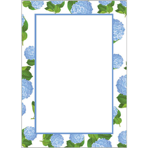 Stock Shoppe: 5x7 Blue Hydrangeas Pattern Notepad