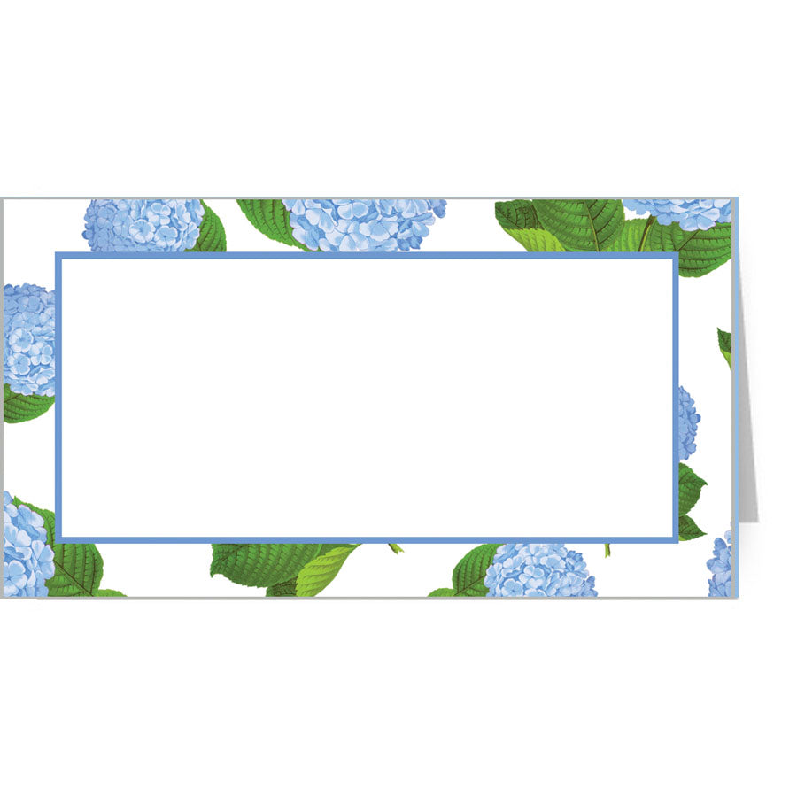 Hydrangeas Foldover Placecards | Set of 10