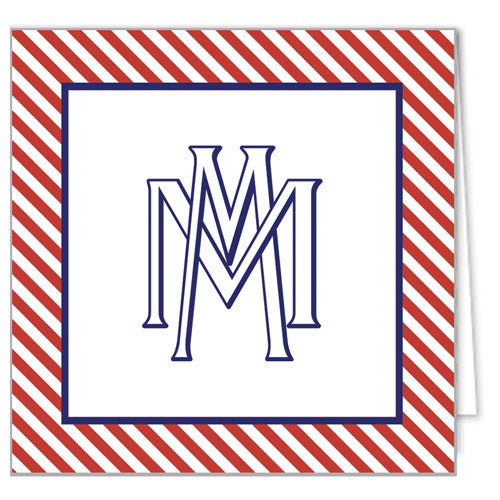 Interlocking Monogram Enclosure Cards + Envelopes | More Colors