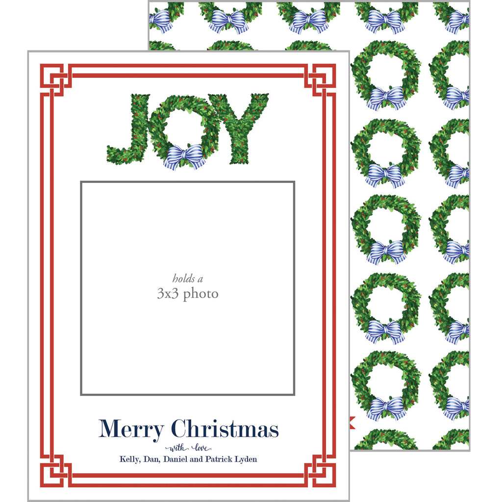 Photo Mount Holiday Photo Card | JOY Boxwood