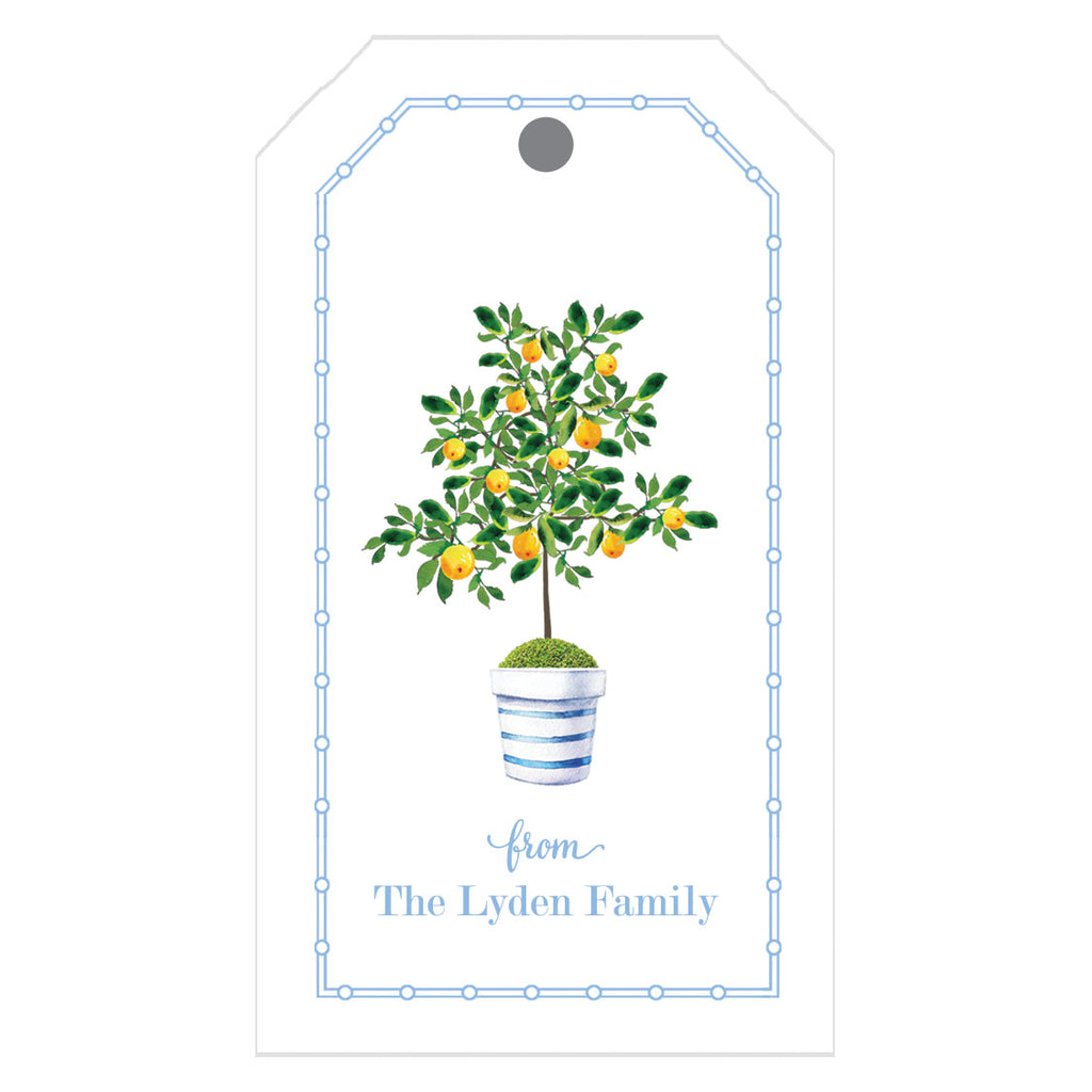Lemon Tree Personalized Gift Tags