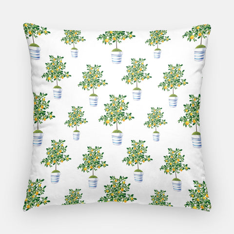 lemon tree pillow