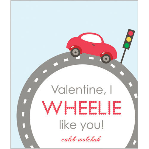 Little Red Car Valentines for Kids