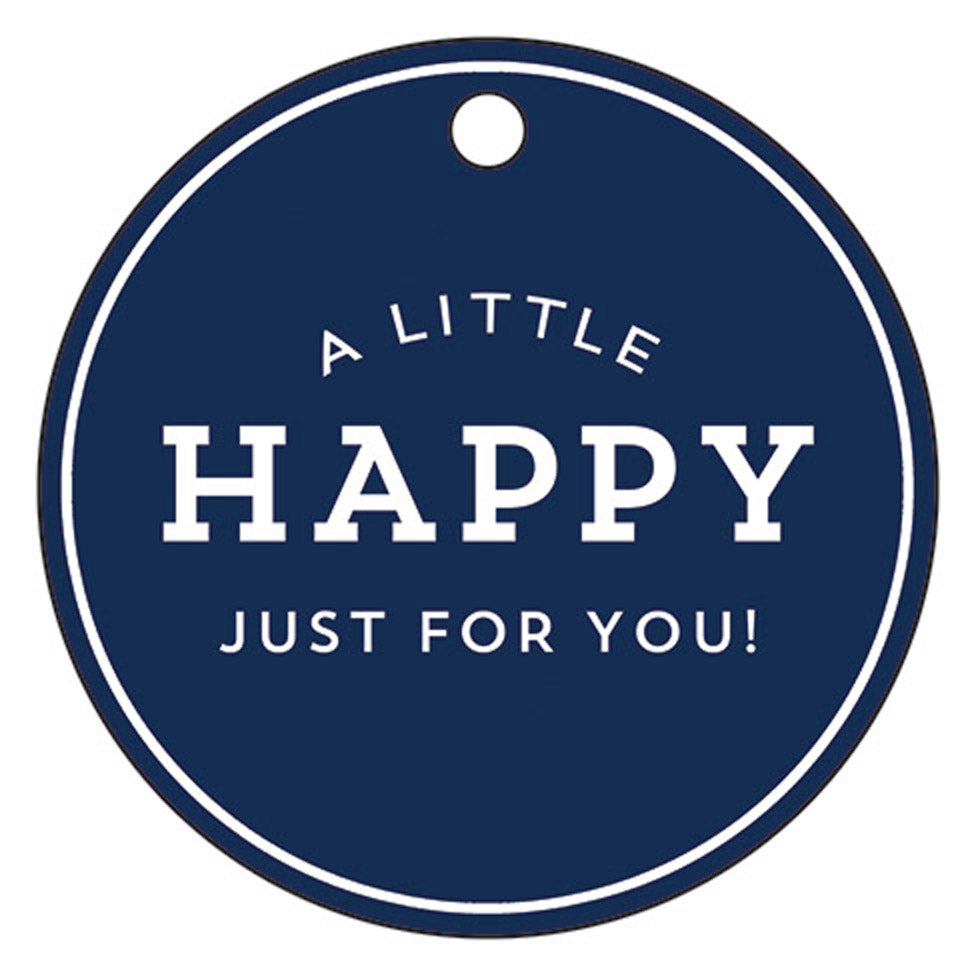 "Stock Shoppe: 3"" Round Navy Blue Gift Tags 