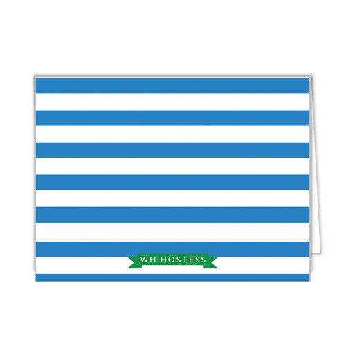 Loop Stripe Personalized Folded Notecards - More Colors