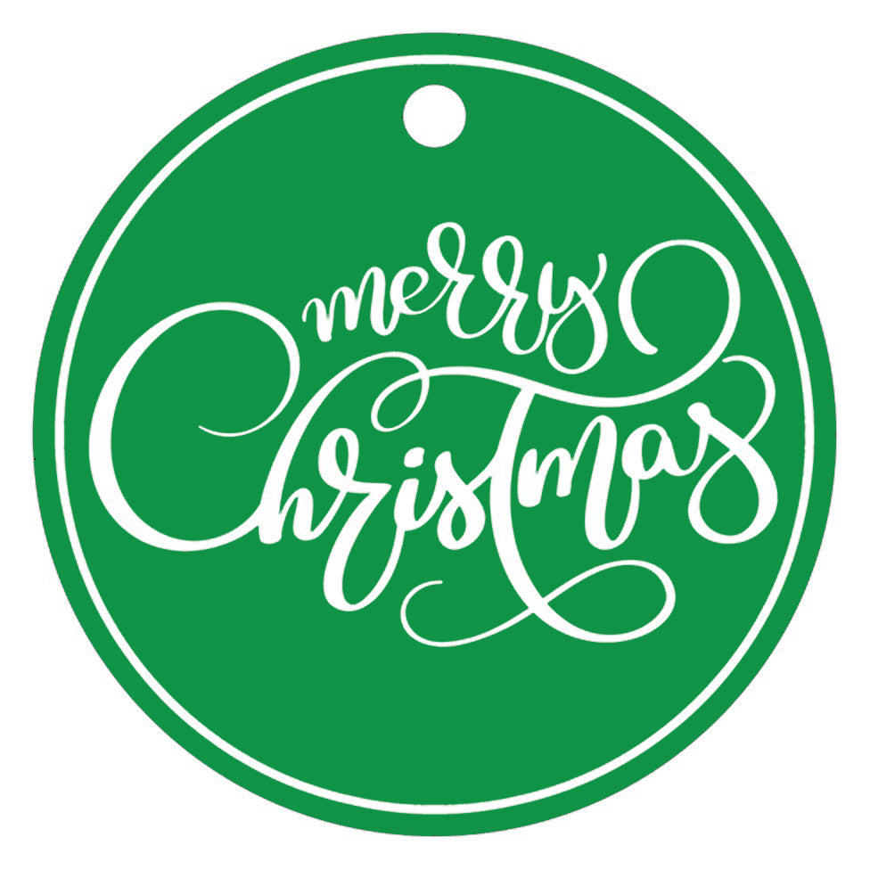 "SALE!! Stock Shoppe: 3"" Round Green Gift Tags 