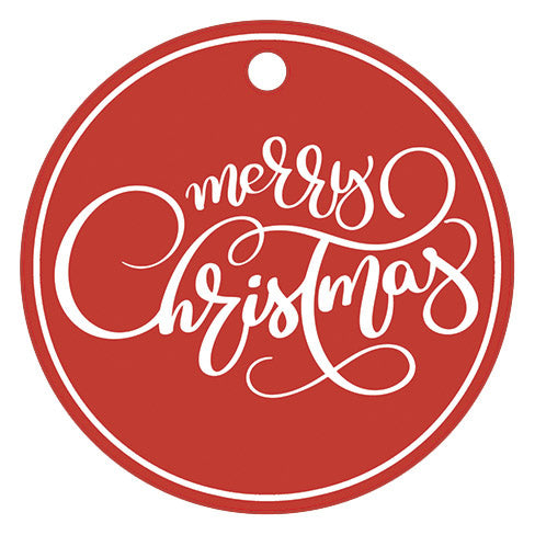 "SALE!! Stock Shoppe: 3"" Round Red Gift Tags 