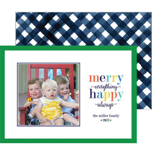 Merry Everything Happy Always Photo Cards