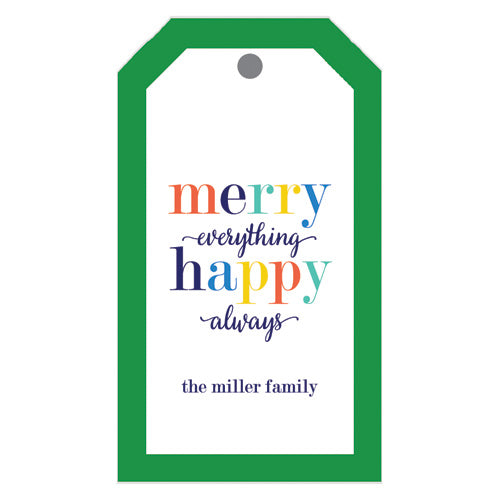 Merry Everything Happy Always Holiday Gift Tags