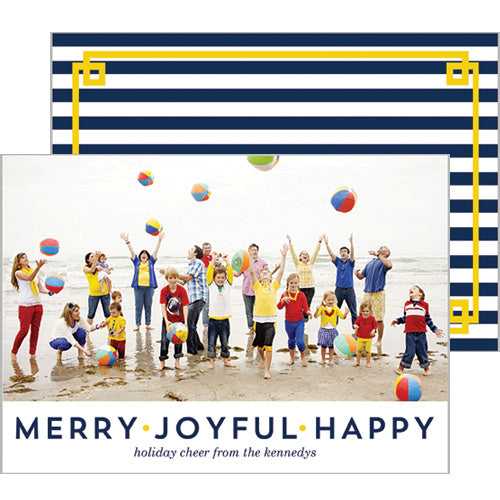 Merry Joyful Happy Photo Card