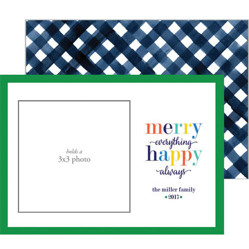 Photo Mount Holiday Photo Card | Merry Everything Happy Always