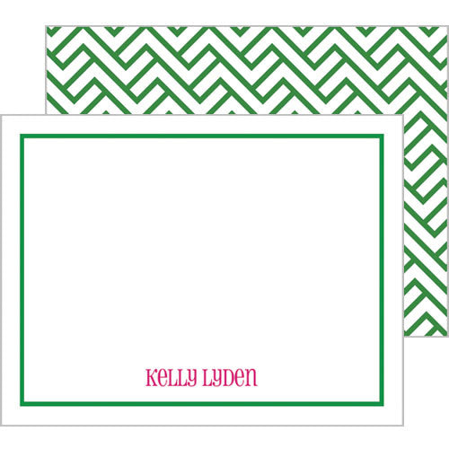 Mod Link Personalized Flat Notecards - More Color Options
