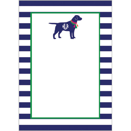 Monogram Dog with Tassel Baubles Personalized Notepad