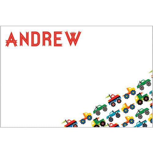 Colorful Monster Truck Notecard