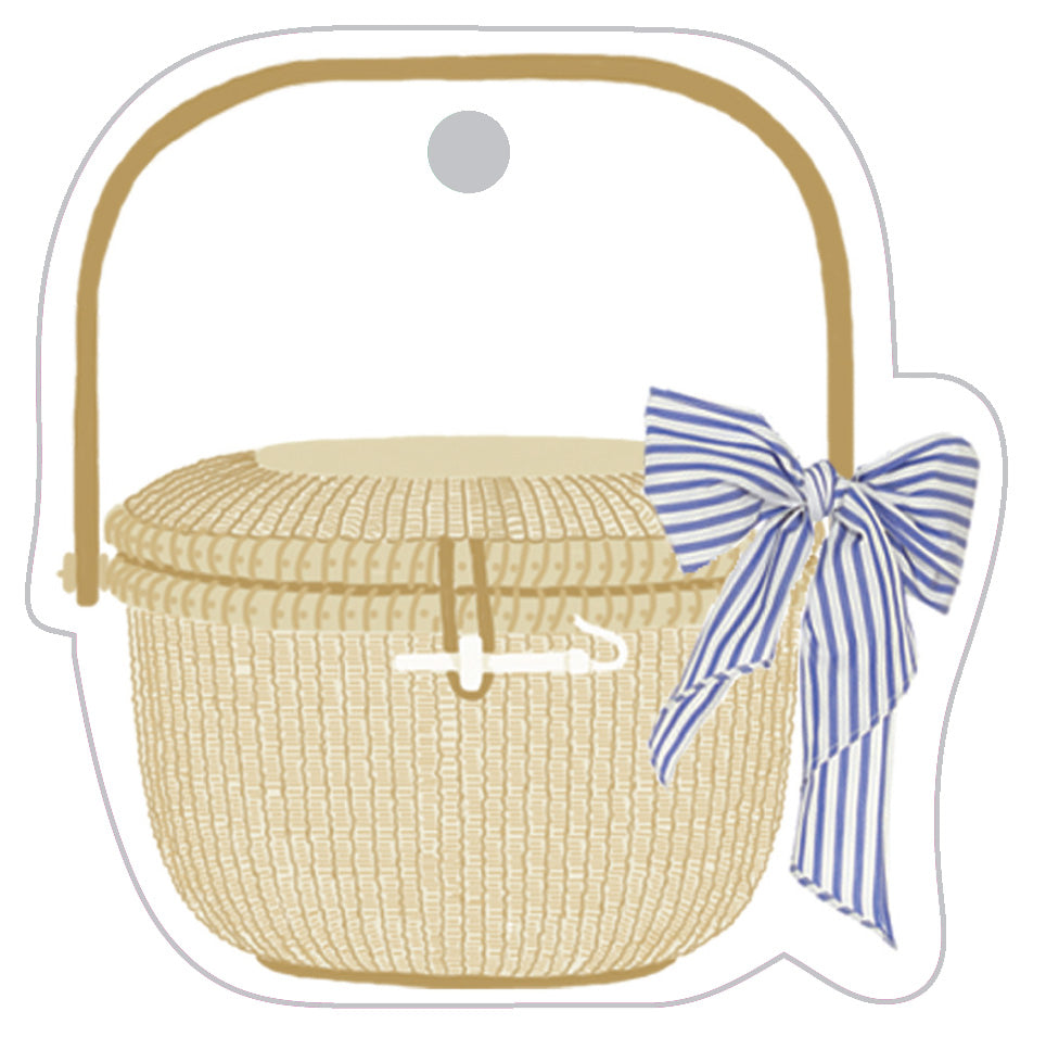 Stock Shoppe: Nantucket Basket Die-Cut Gift Tags