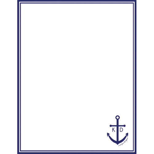 Anchor Personalized Notepad - More Color Options