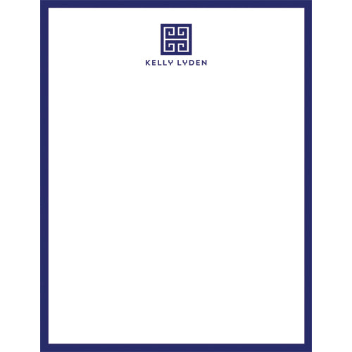 Greek Key Emblem Personalized Notepad - More Color Options