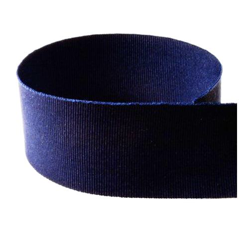 Preppy Solid Grosgrain Ribbon | Navy Blue