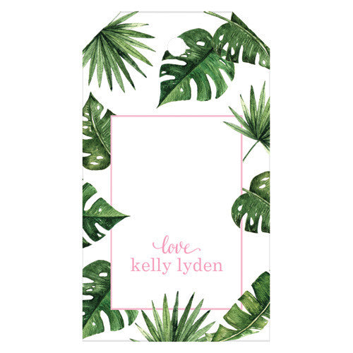 Palm Leaves Personalized Gift Tags