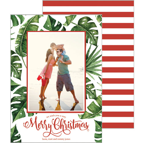 Palm Leaves Holiday Photo Card