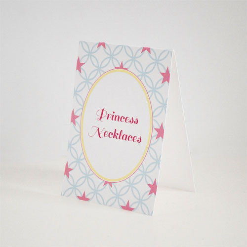 Pastel Princess Oversized Tent Cards - Set of 4