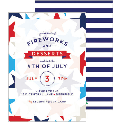 Patriotic Stars Party Invitation