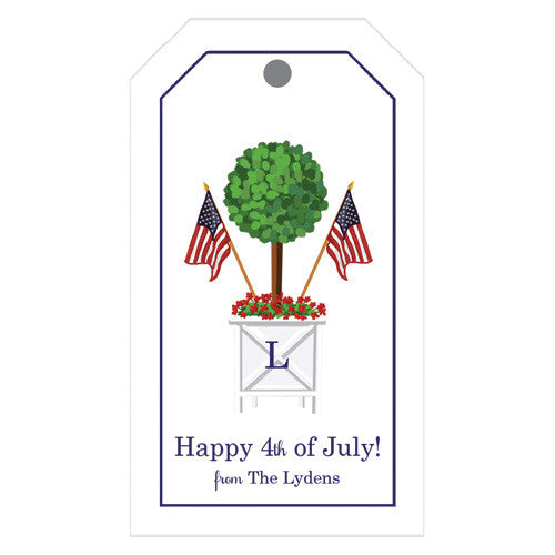 Patriotic Topiary Personalized Gift Tags