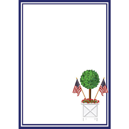 Stock Shoppe: 5x7 Patriotic Topiary Notepad