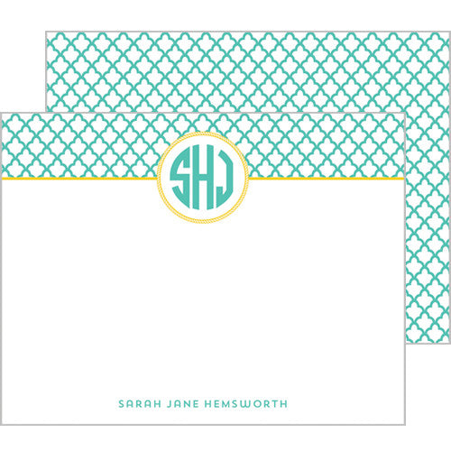 Petal Personalized Flat Notecards - More Color Options