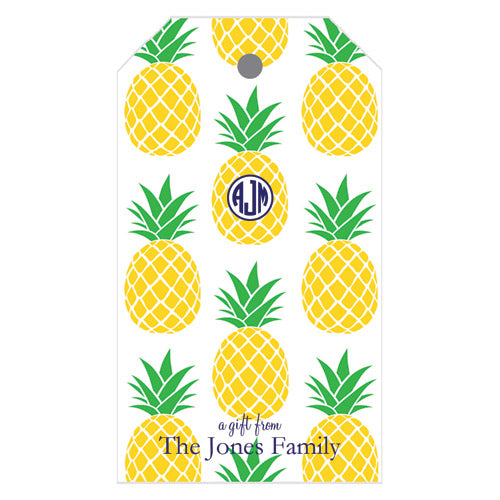 Preppy Pineapple Personalized Gift Tags