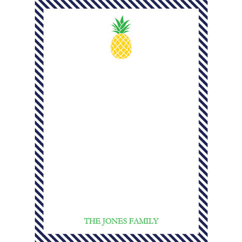 Preppy Pineapple Personalized Notepad
