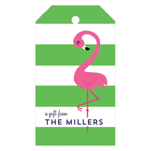 Pink Flamingo Personalized Gift Tags