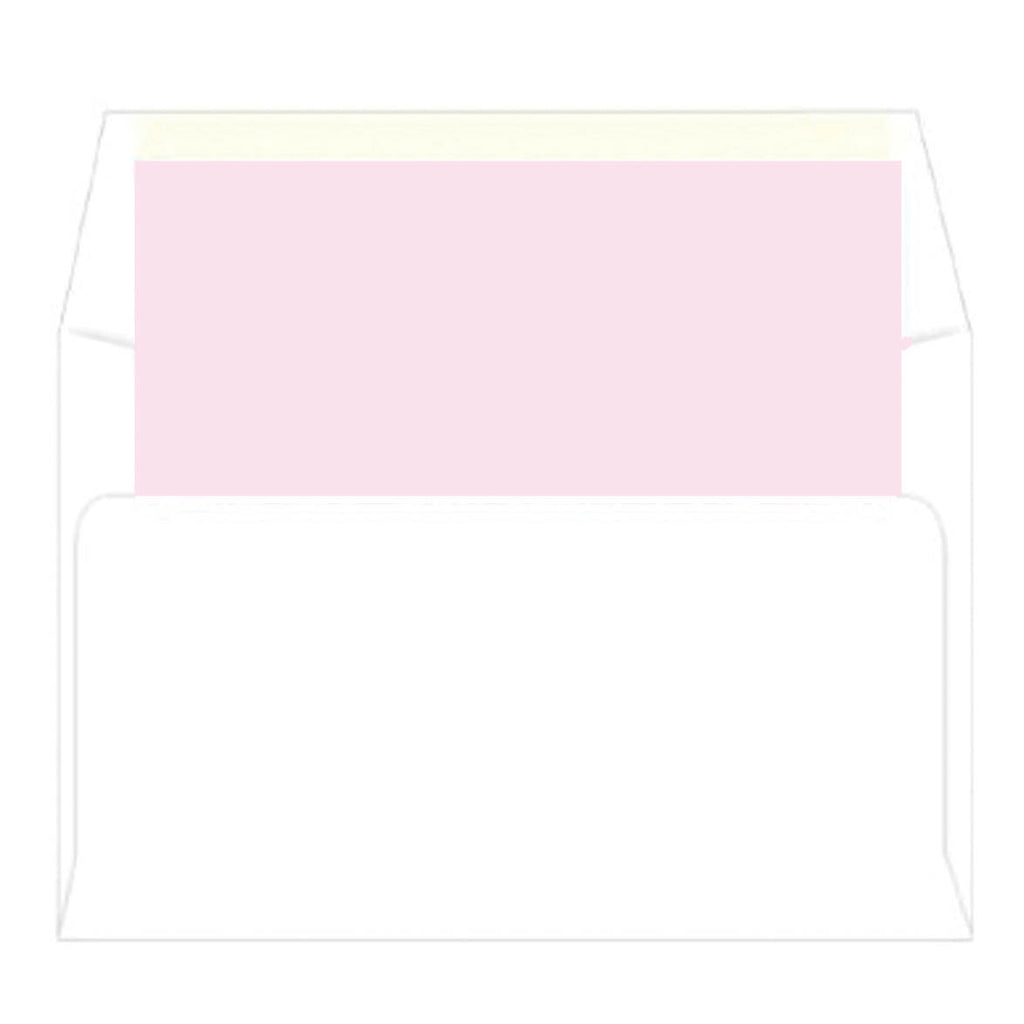 Pink Gingham Check Photo Birth Announcement Card | Multiple Icon Options