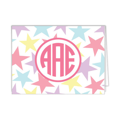 Princess Stars Personalized Folded Notecards