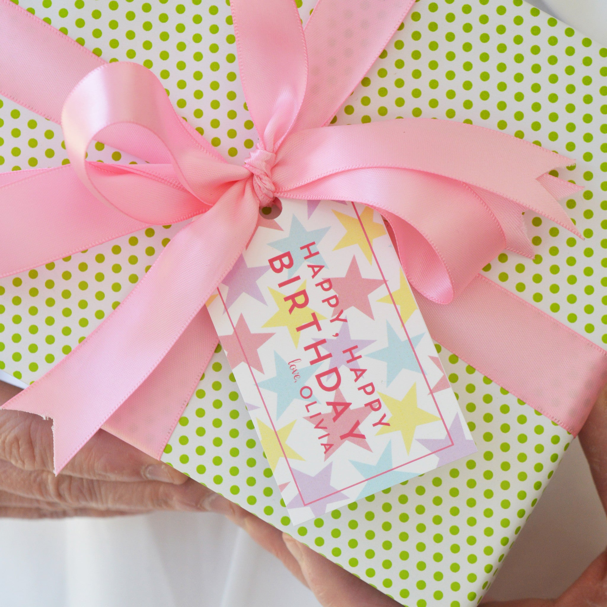 Princess Stars Personalized Gift Tags
