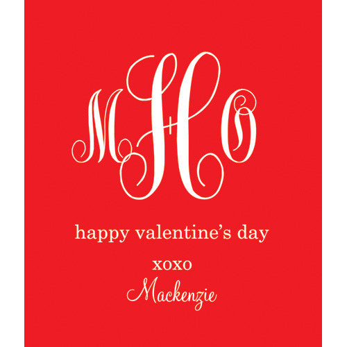 Red Monogram Kids Valentines