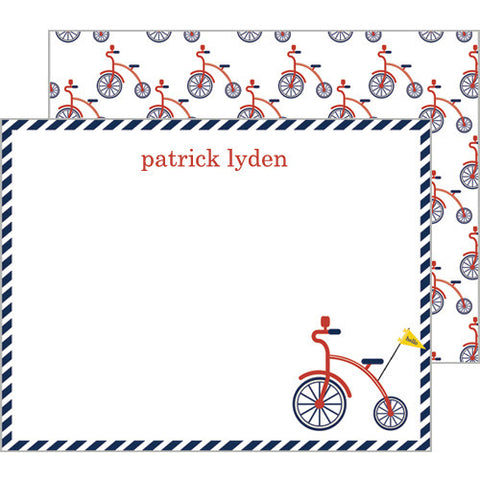 personalized preppy flat notecards for kids personalized stationery