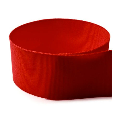 Preppy Solid Grosgrain Ribbon | Red
