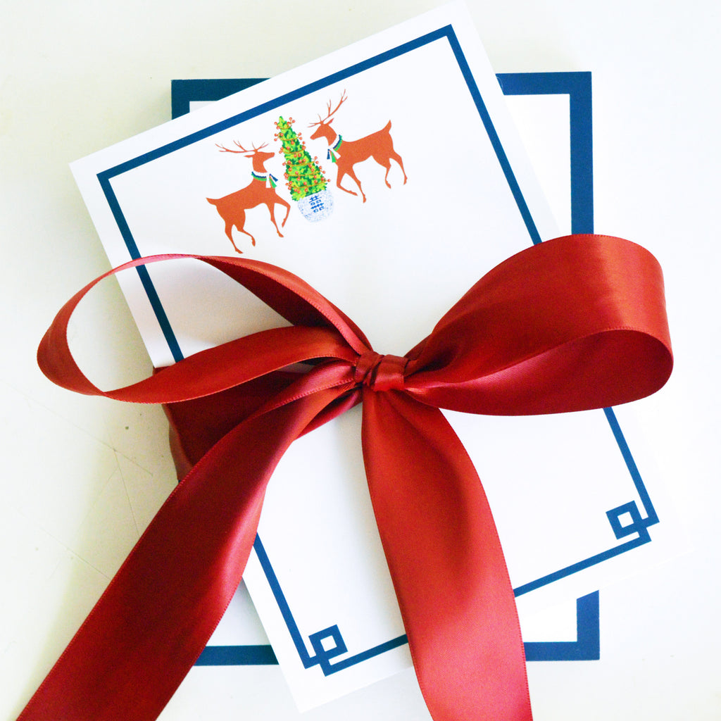 Reindeer Boxwood Personalized Notepad