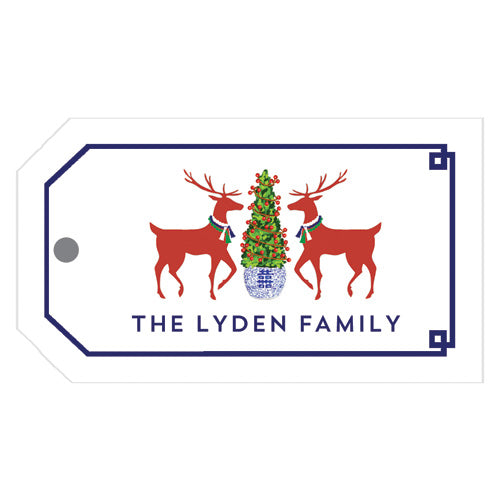Reindeer Boxwood Christmas Gift Tags