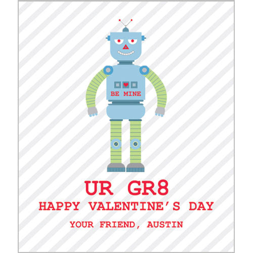 Robot Valentines for Kids